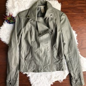 Candies Grey Pleather Jacket - Small